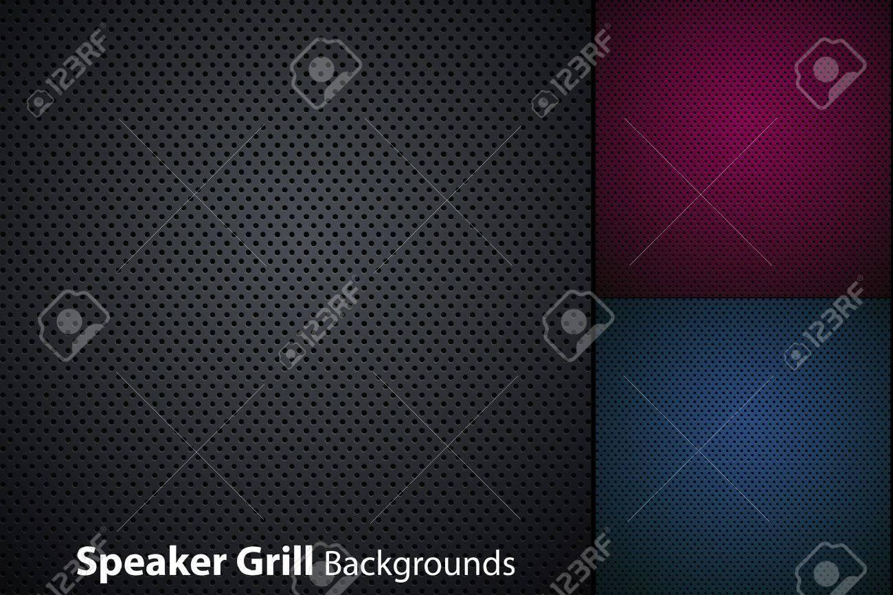 speaker grill realistic textures Stock Vector - 10621507