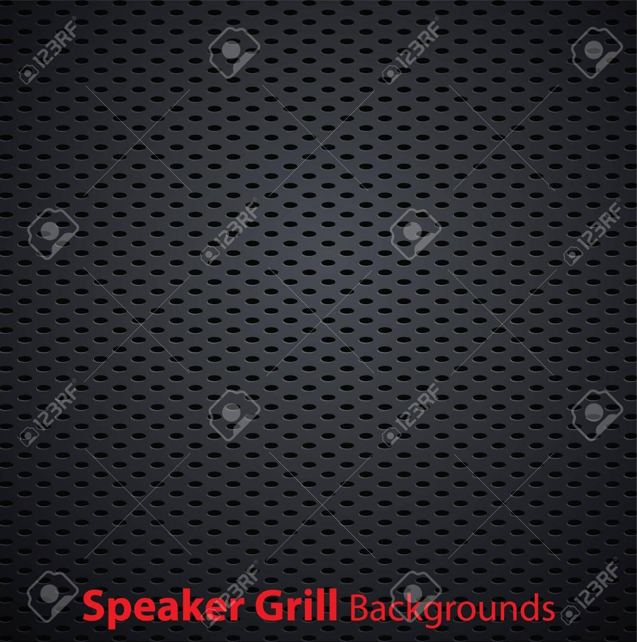Realistic vector speaker grill background Stock Vector - 10661241