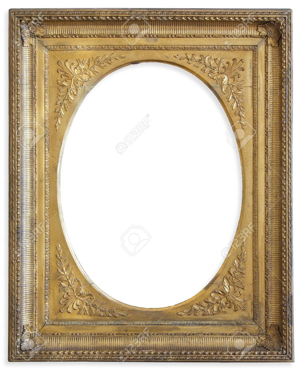 Gold Frame. Gold Gilded Arts And Crafts Pattern Picture Frame. Stock ...
