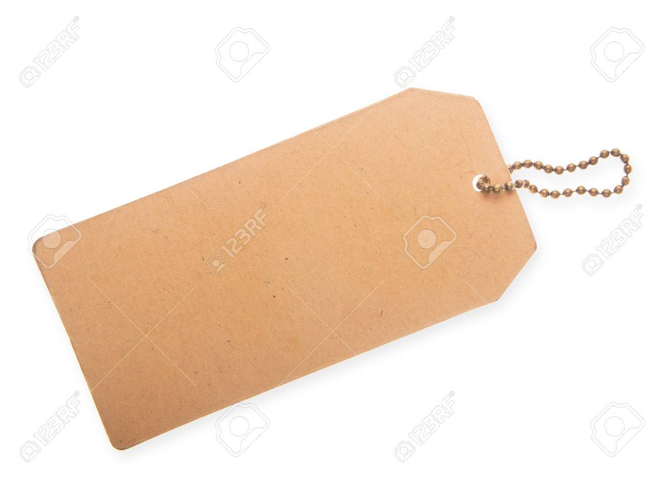 Cardboard price tag isolated on a white background - 51793377
