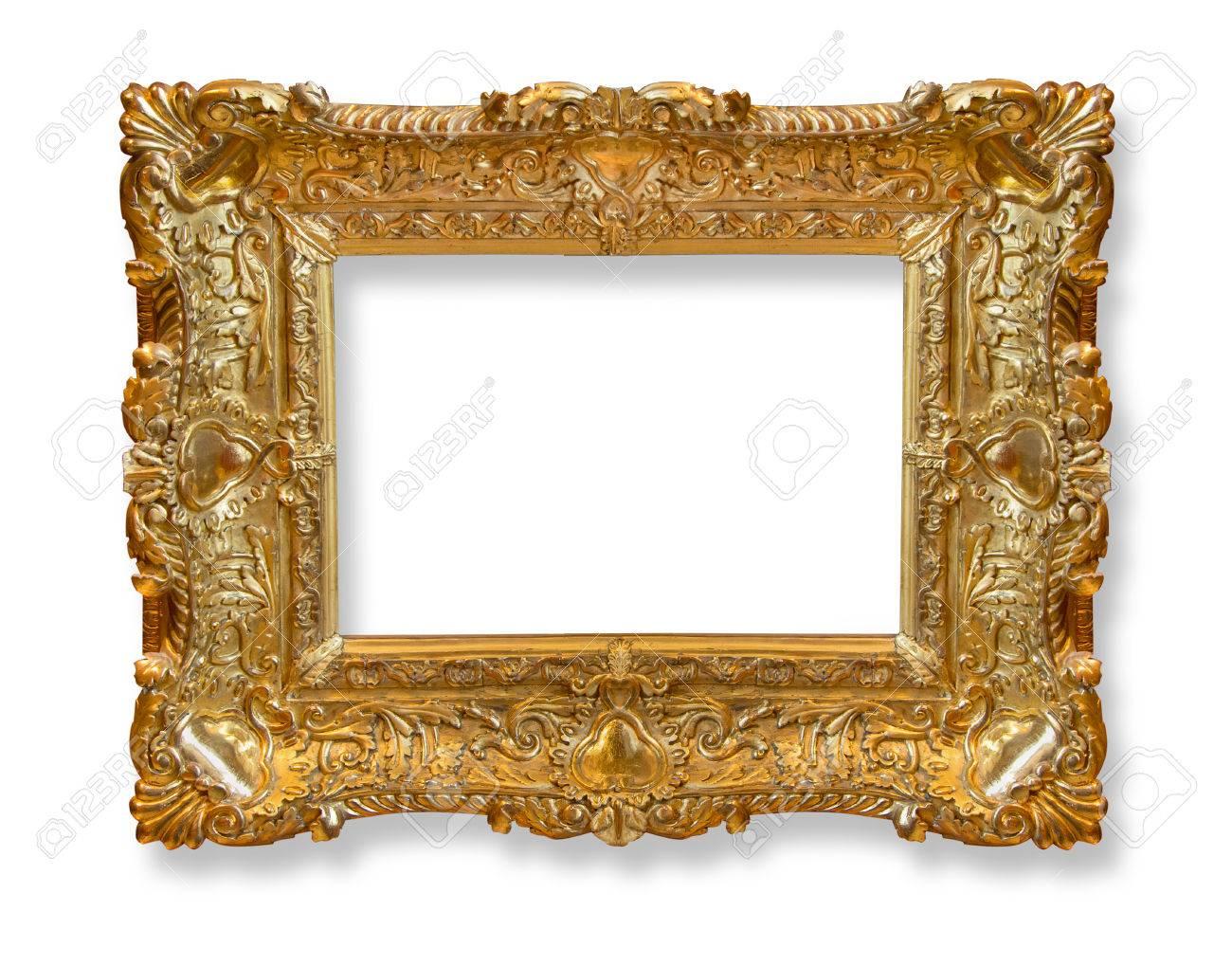 Marco De Oro. Artes De Oro Oro Y Marco De Imagen Patrón De ...