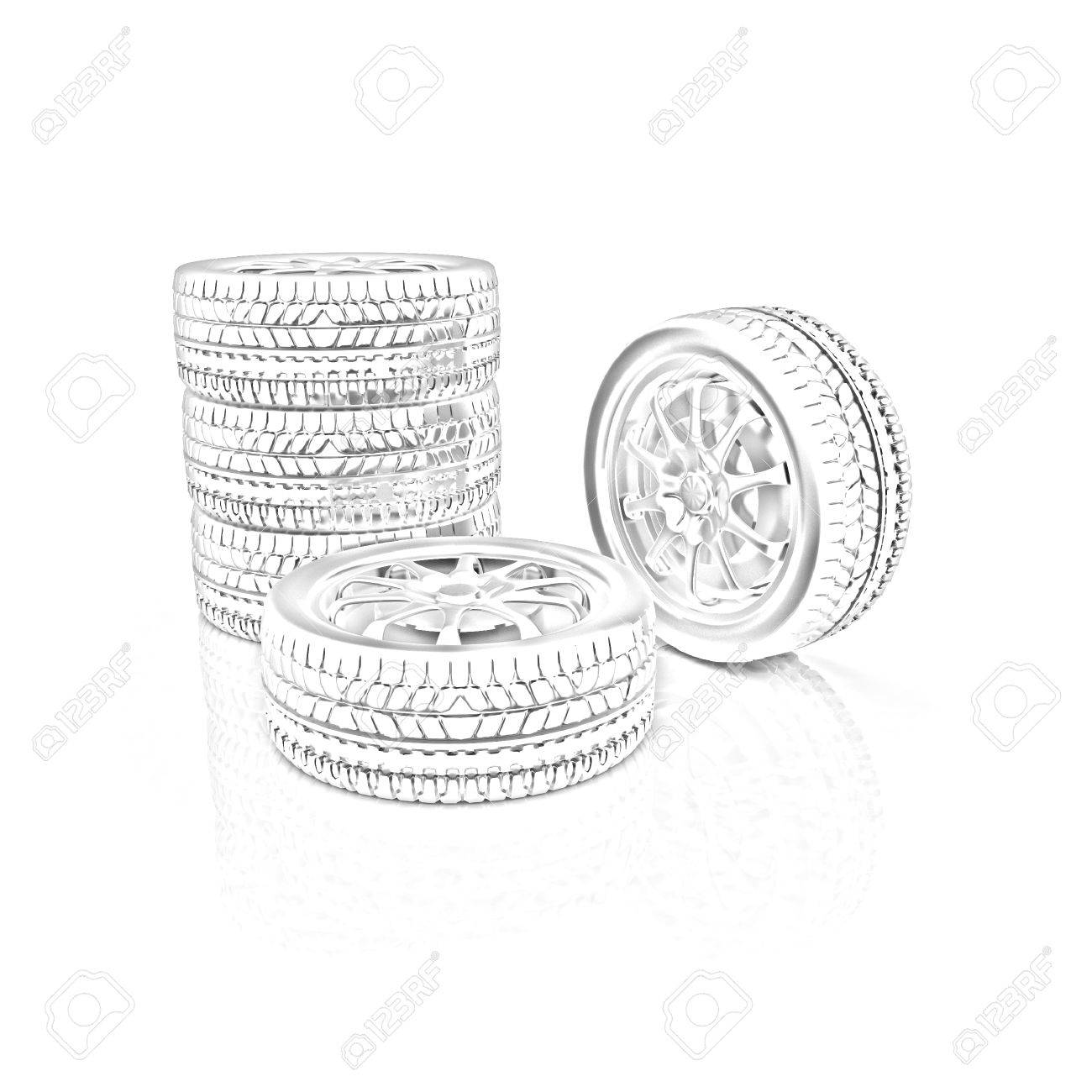 Car Wheels Icon On White Background Pencil Drawing Stock Photo Picture And Royalty Free Image Image 32047463