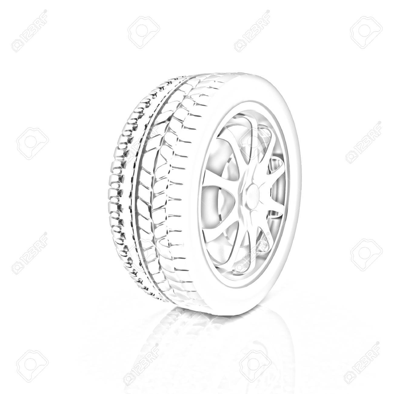 Car Wheels Icon On White Background Pencil Drawing Stock Photo Picture And Royalty Free Image Image 32047659