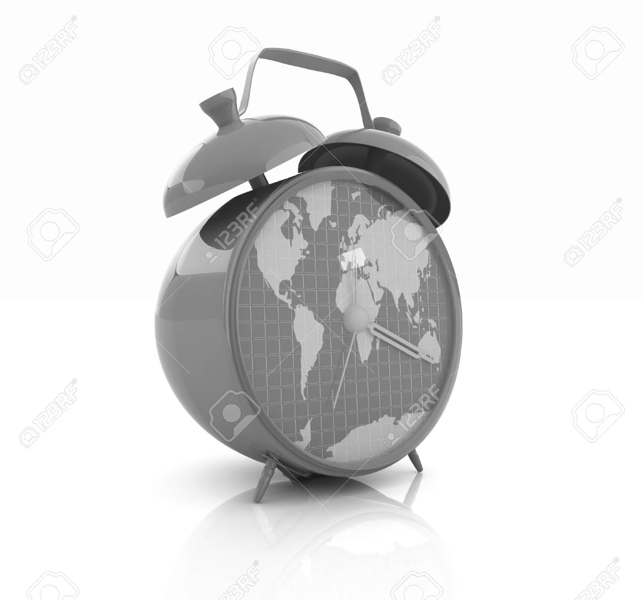 Clock of world map stock photo picture and royalty free image clock of world map stock photo 32134599 gumiabroncs Choice Image
