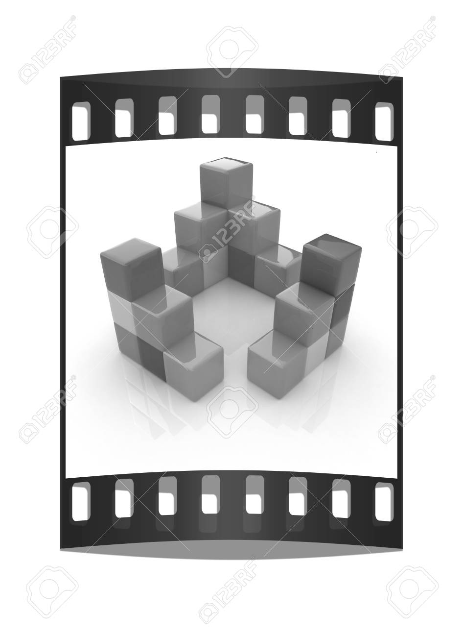 Colorful Block Diagram The Film Strip Stock Photo Picture And