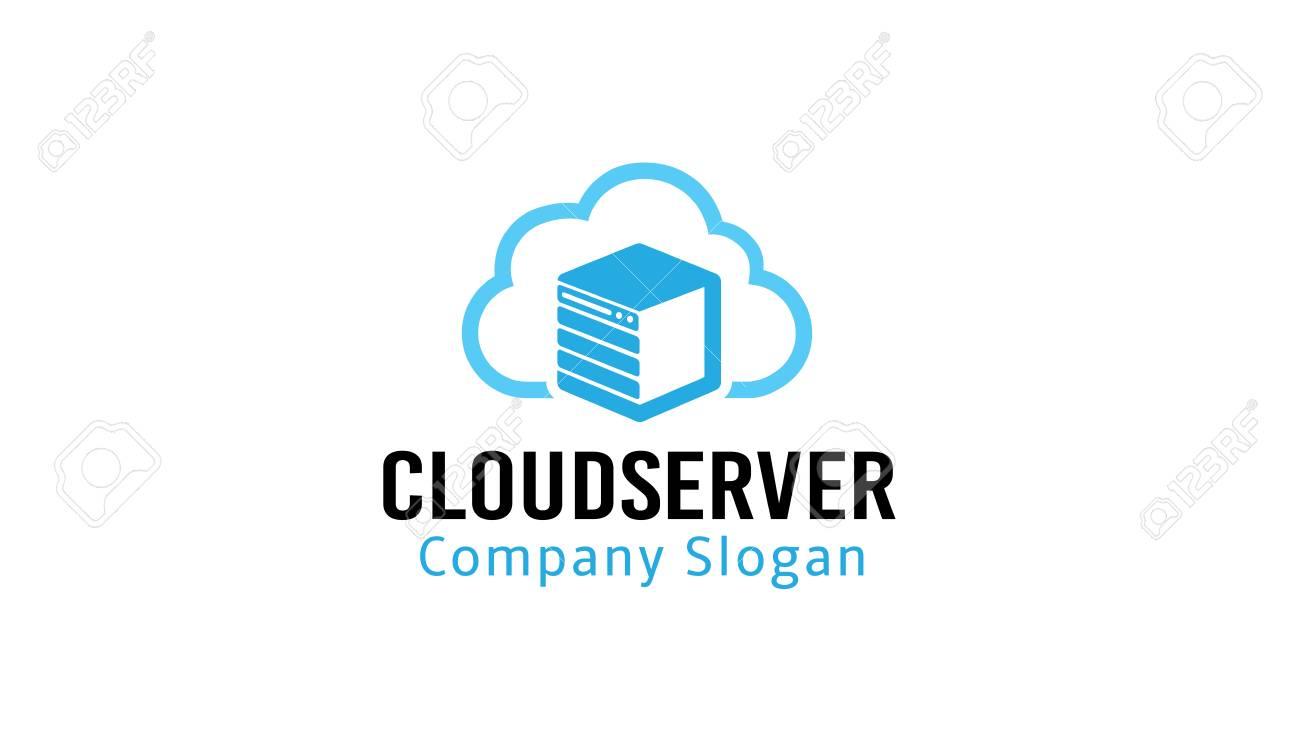 Cloud Server Logo Design Illustration