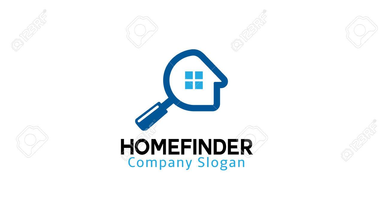 Home Finder Logo Design Illustration Royalty Free Cliparts, Vectors ...