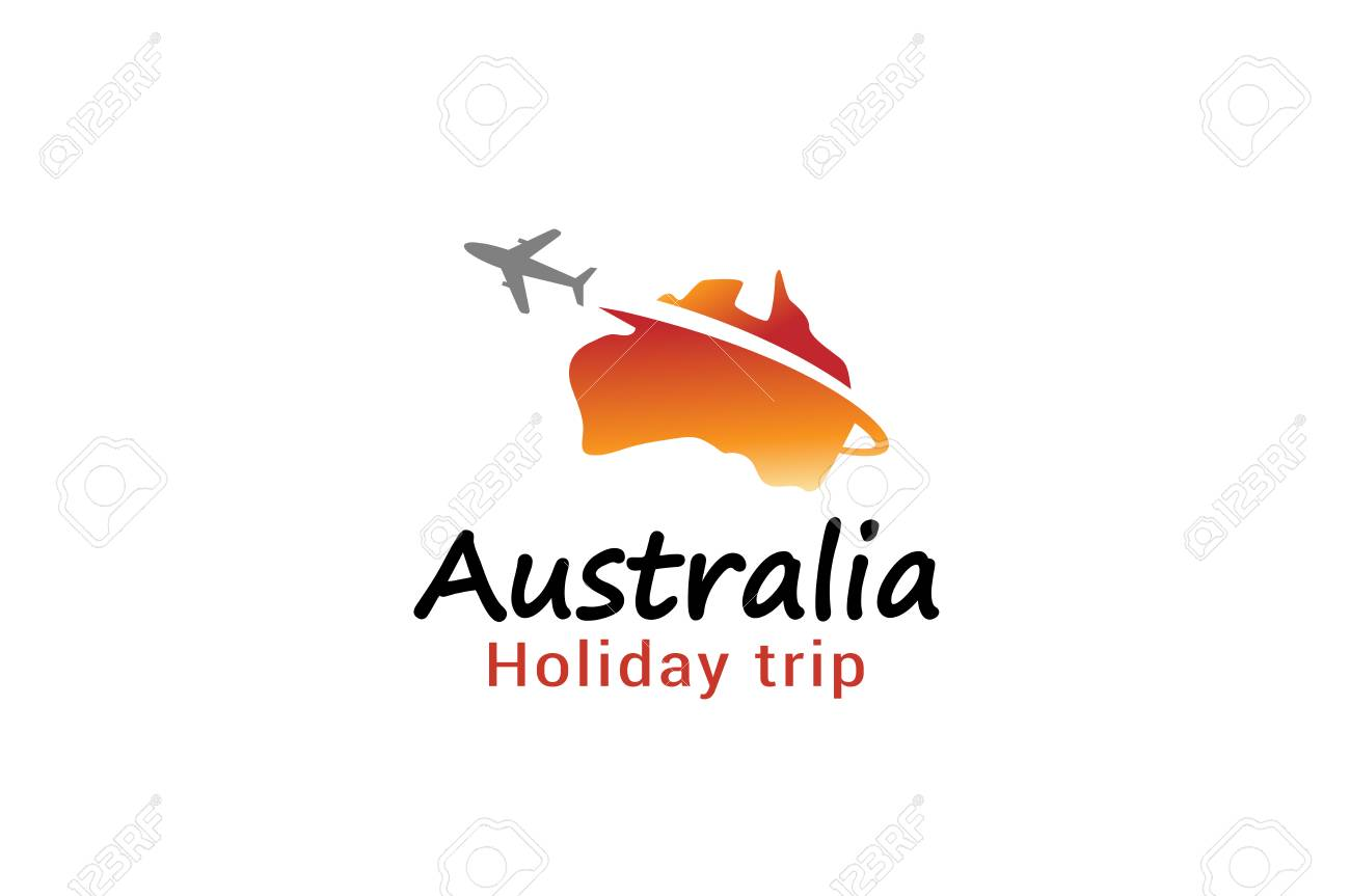 australia flight airplane logo creative air design illustration