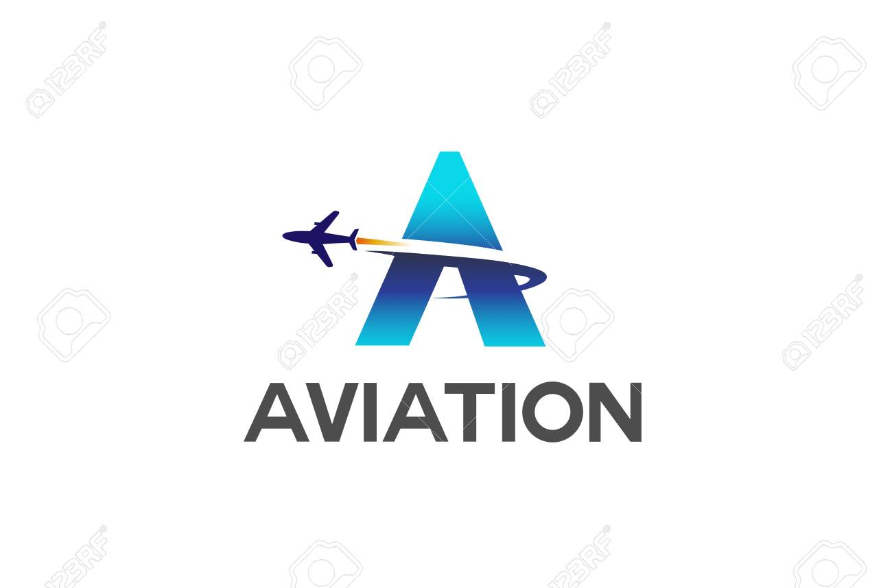 abstract letter airplane logo creative air design illustration