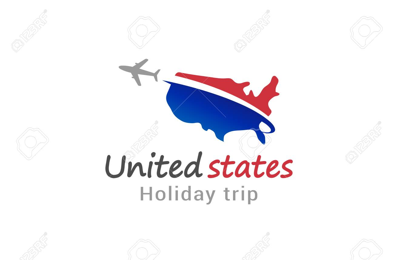 united states flight airplane logo creative air design illustration