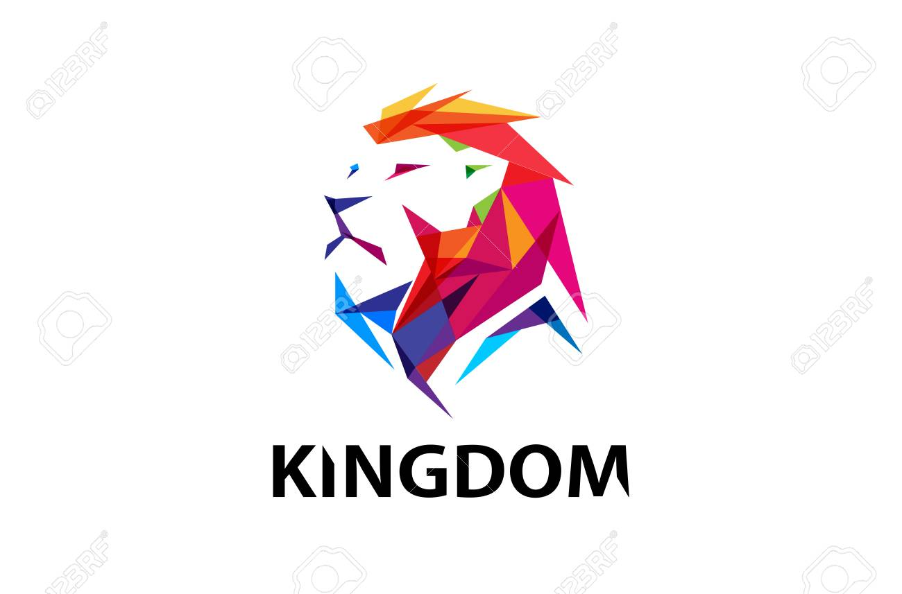 colorful creative lion head logo symbol design illustration royalty rh 123rf com lion head logo template lion head logo png