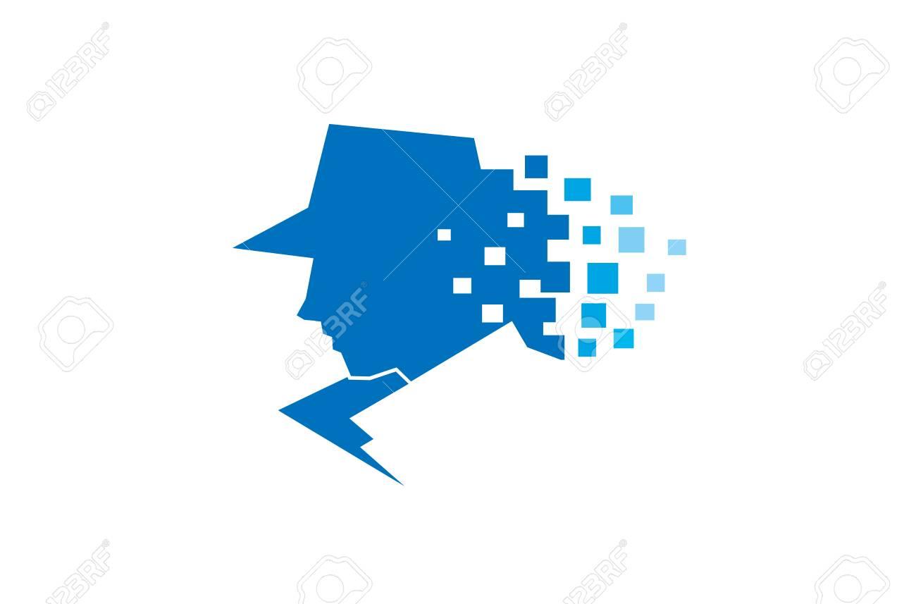 Detective Logo Design Illustration - 107678225