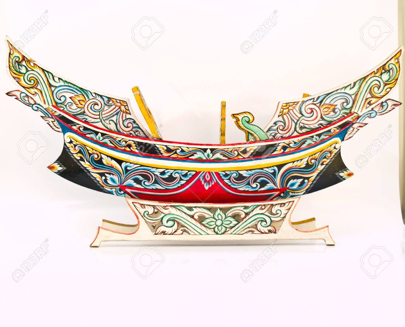 A Thai Southern-most traditional fishing boat, Kolek, Model Stock Photo - 17528992