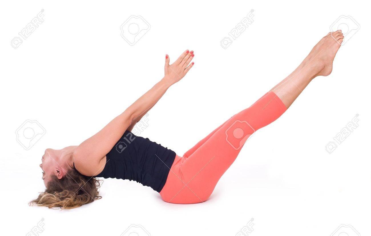Ben Yoga Übungen Boat Pose   Navasana Lizenzfreie Fotos, Bilder ...