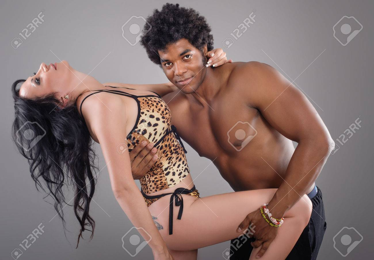 Passionate Couple Young And Sexy Passionate Couple On Gray Studio Background Stock Photo 41233720
