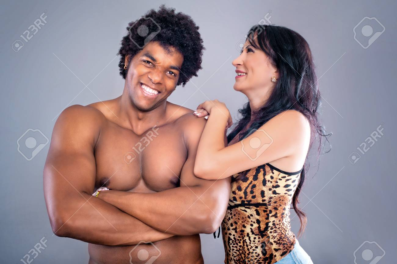 Passionate Couple Young And Sexy Passionate Couple On Gray Studio Background Stock Photo 41506243