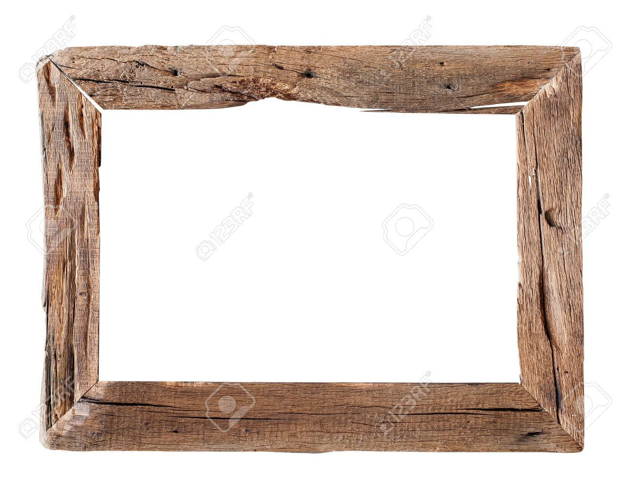 Wooden Frame. Rustic Wood Frame Isolated On The White Background ...