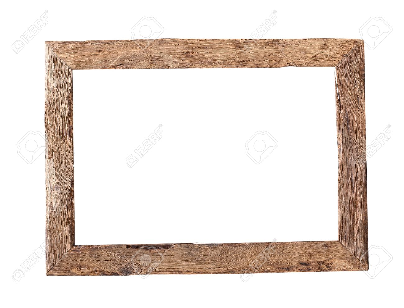Attirant Stock Photo   Wooden Frame. Rustic Wood Frame Isolated On The White  Background With Clipping Path