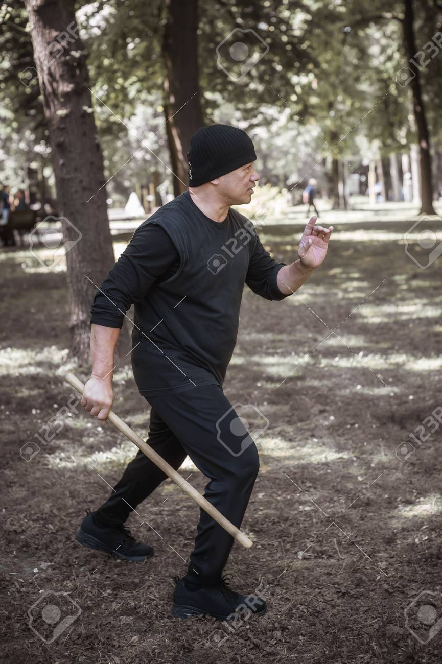 Lameco Astig Combatives instructor demonstrates single stick