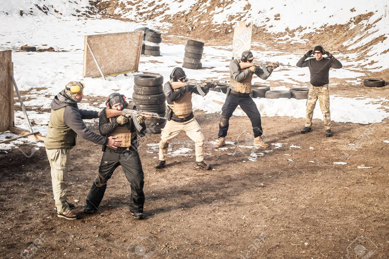 Two instructors had firearm tactical shooting training with group