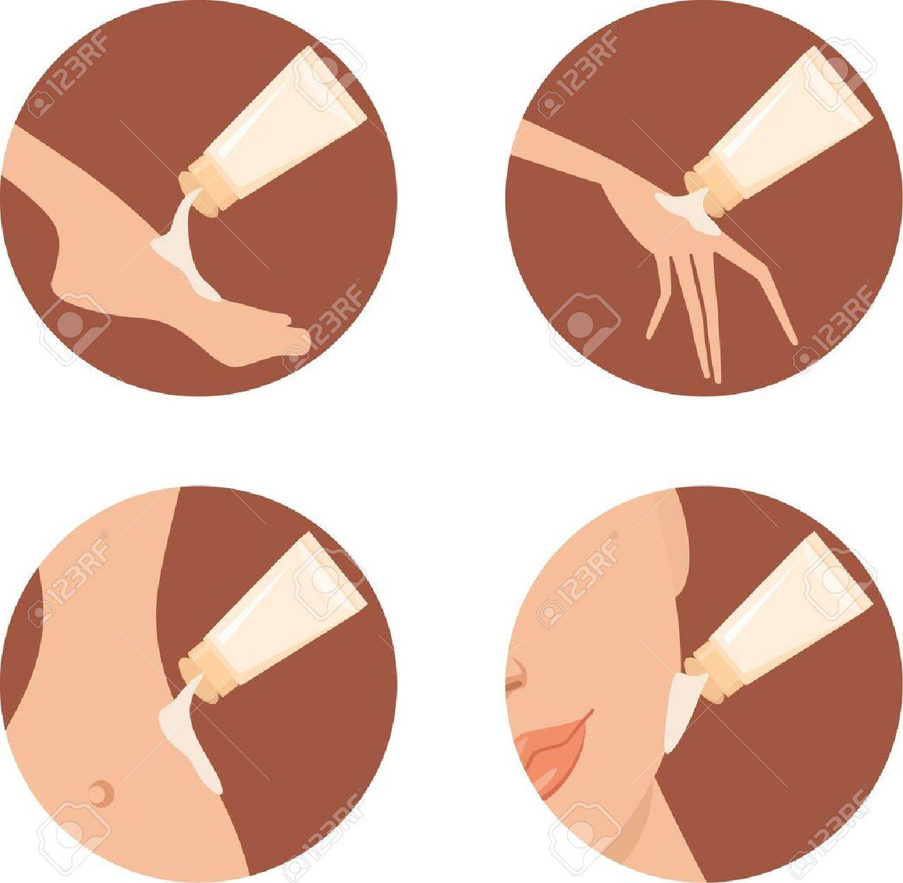 Cosmetic icons. Stock Vector - 10831699