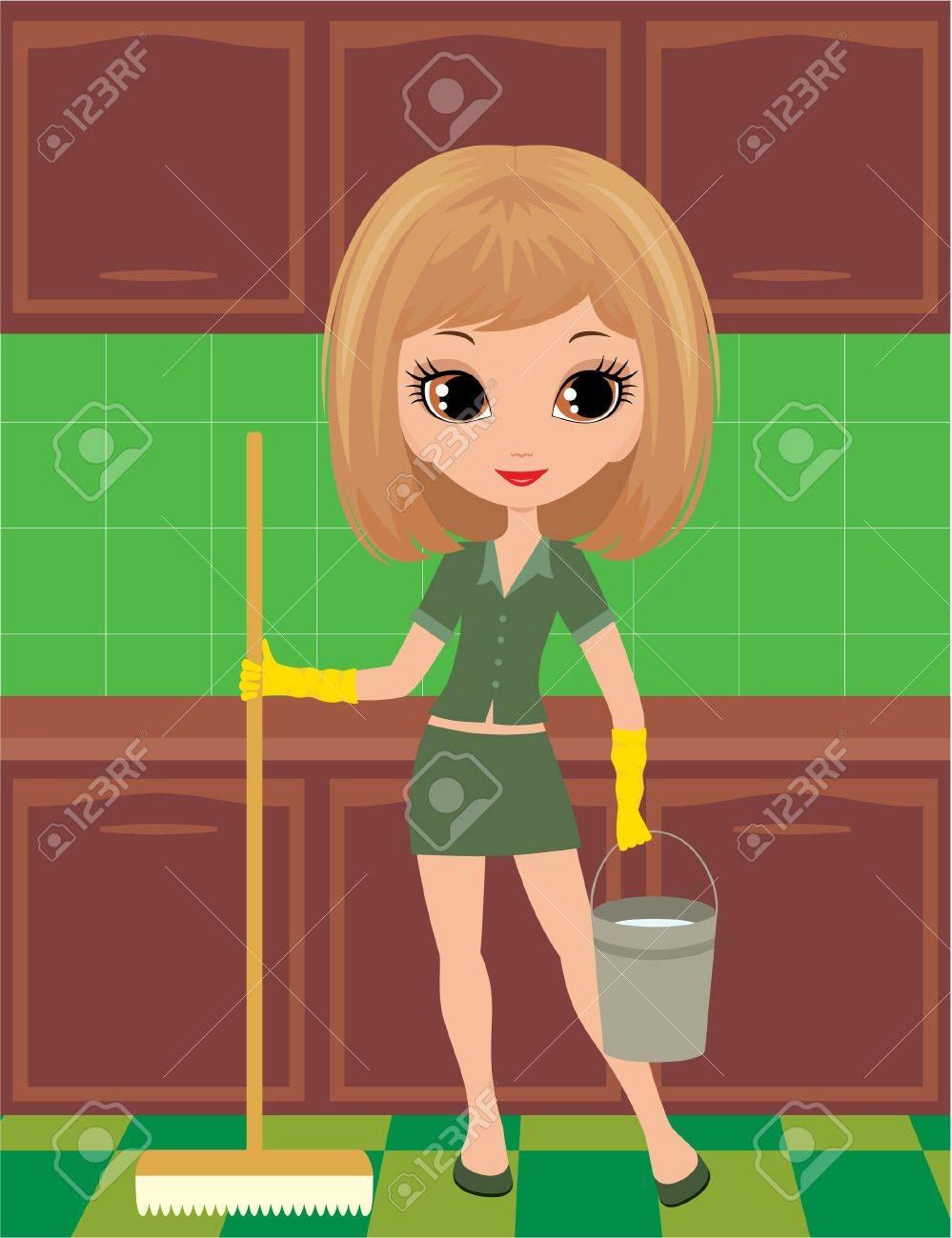 У домохозяйке швабра в попе 22 фотография