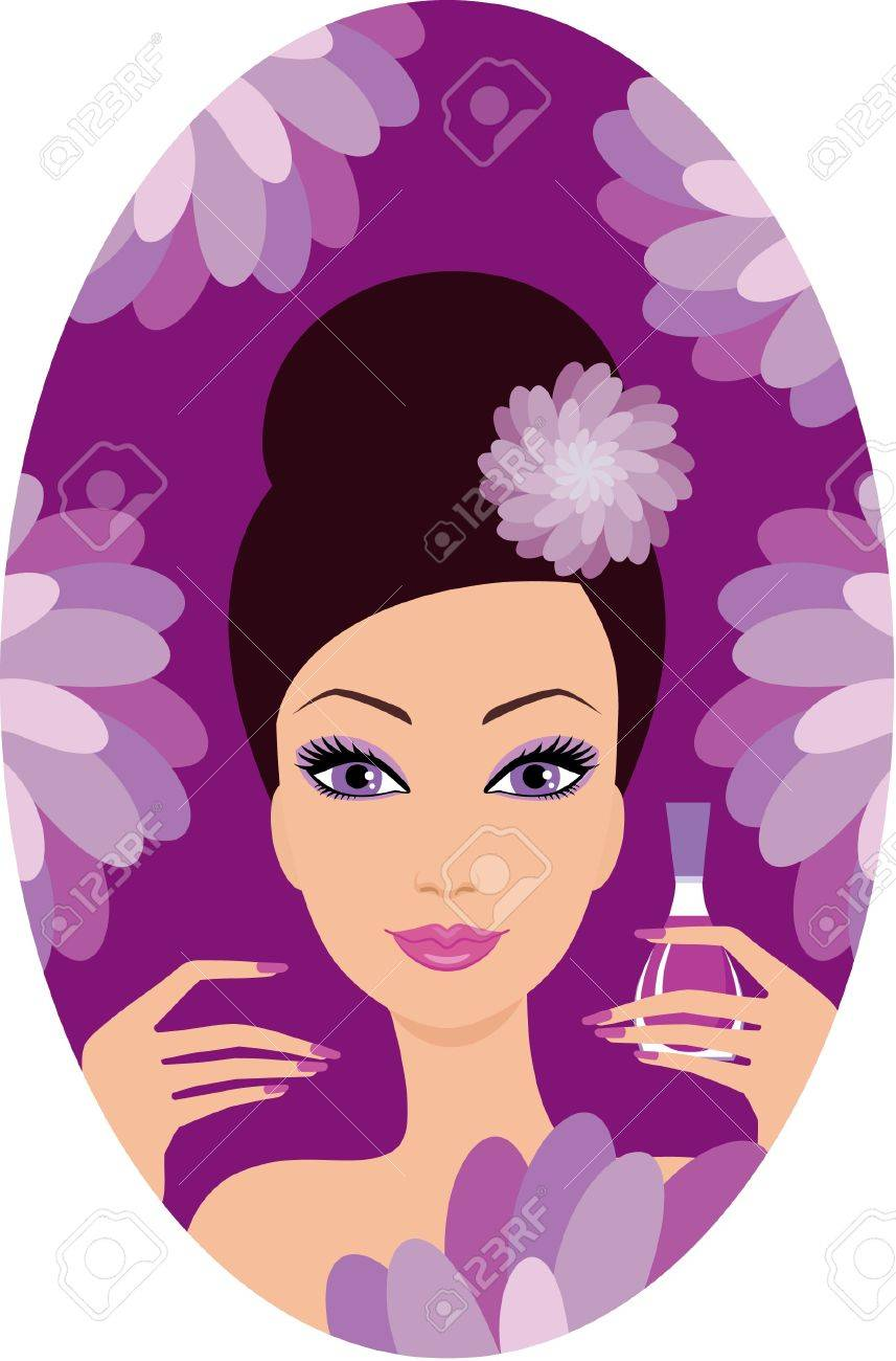 Beautiful woman with nail polish Stock Vector - 11113080