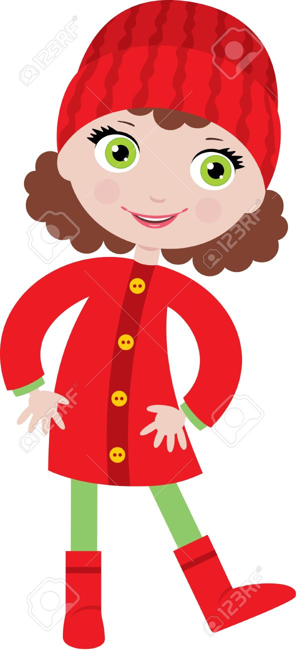 Little Girl In A Coat Royalty Free Cliparts, Vectors, And Stock ...