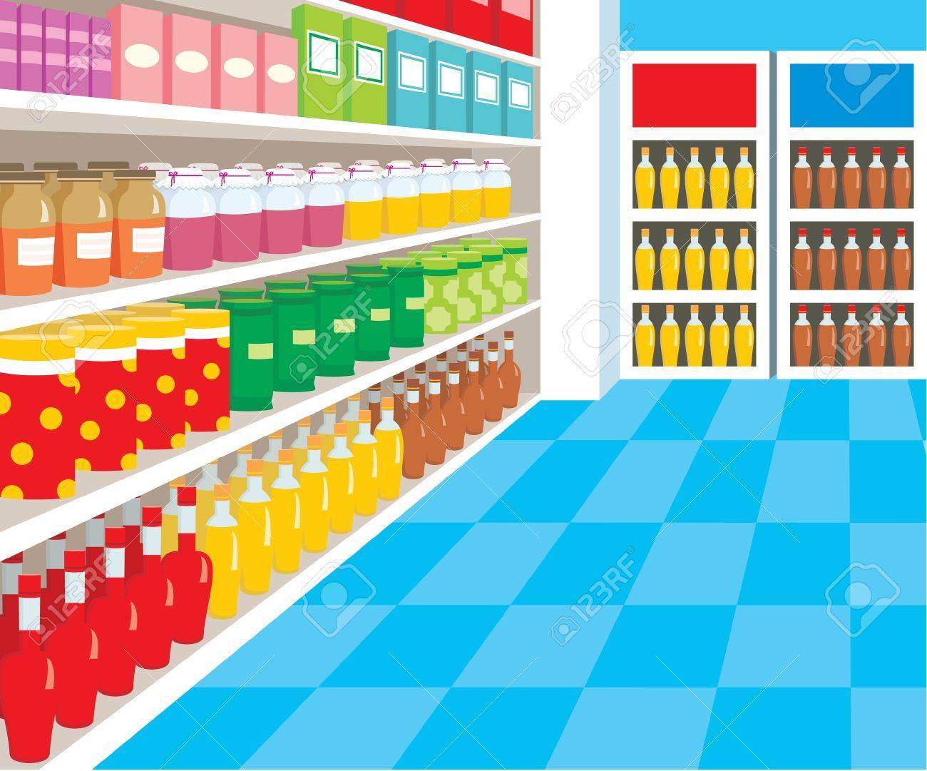 Supermarket Stock Vector - 11227638