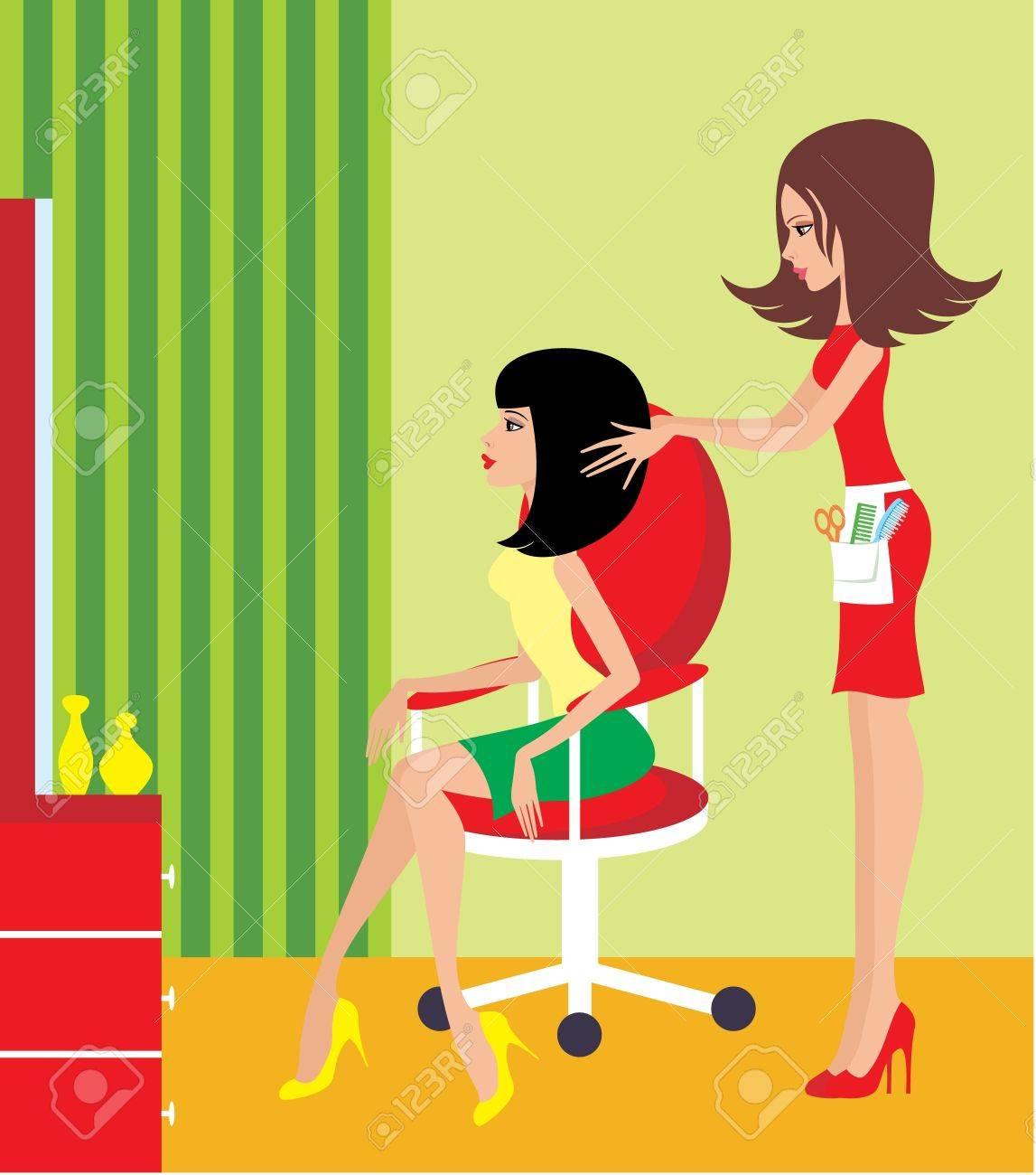 Woman in a beauty salon Stock Vector - 11227713