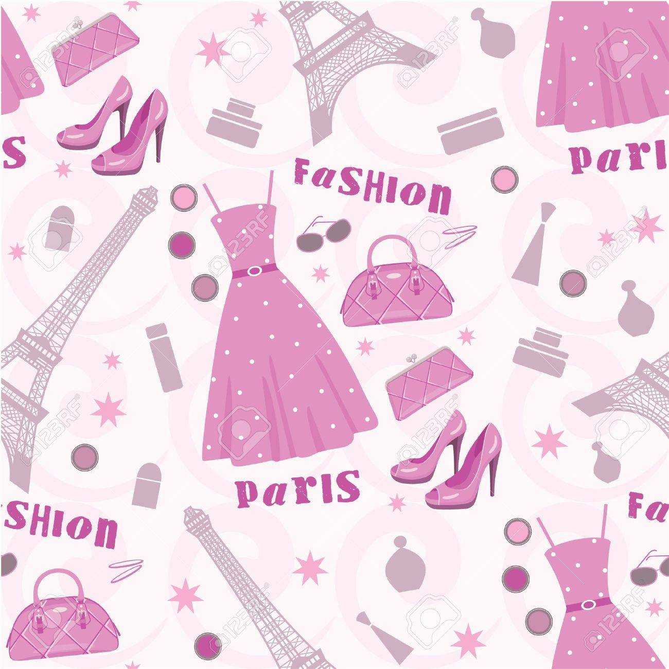 Seamless fashion pattern Stock Vector - 11656213