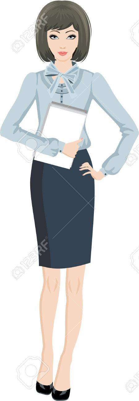 Business woman. White background Stock Vector - 12044439