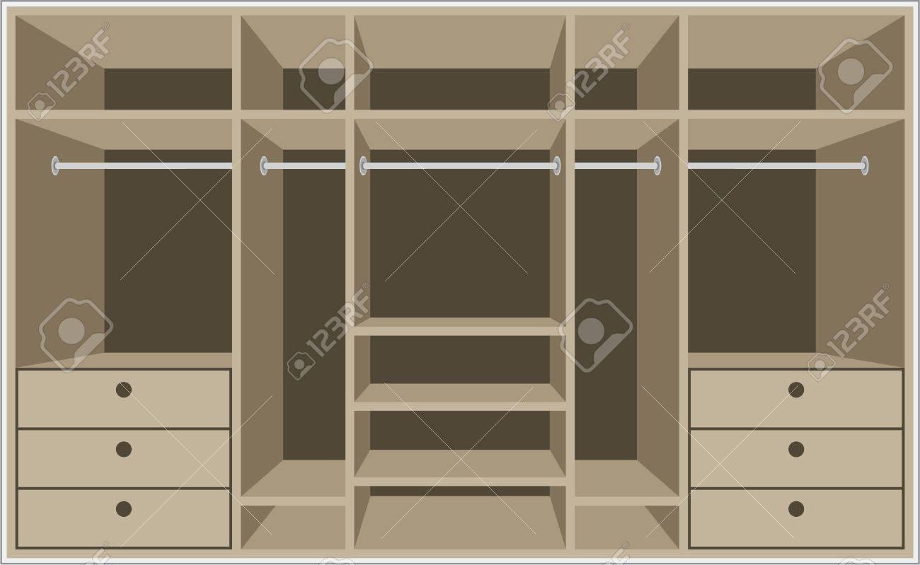 Armario Habitación. Muebles Ilustraciones Vectoriales, Clip Art ...