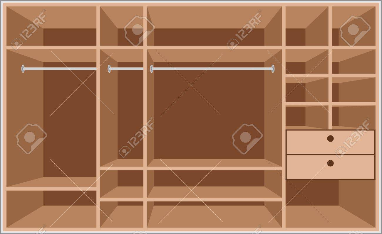 Wardrobe room. Furniture Stock Vector - 12480881