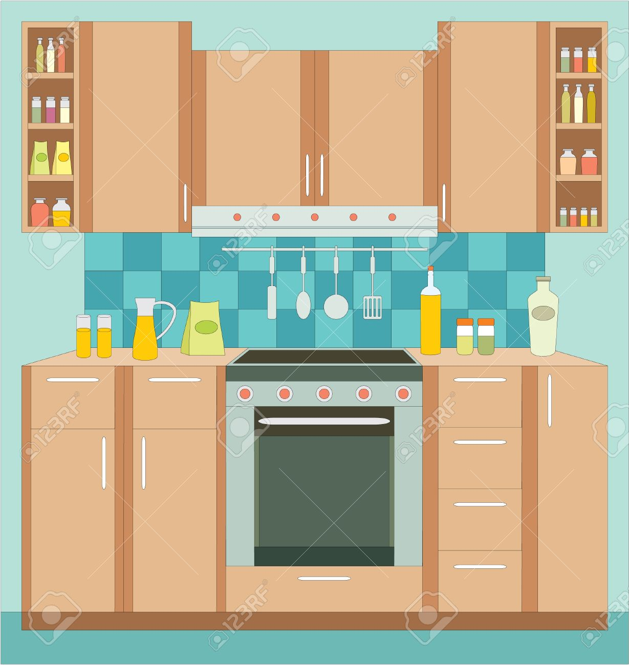Glamorous Kitchen Room Vector Pictures - Simple Design Home ...