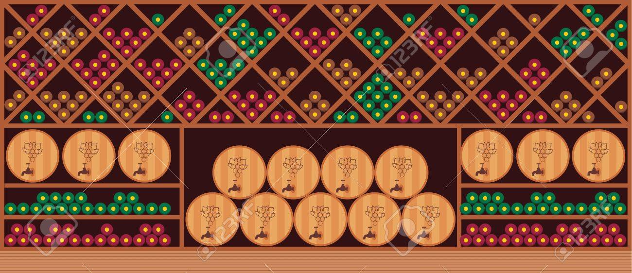 Wine cellar Stock Vector - 14001294