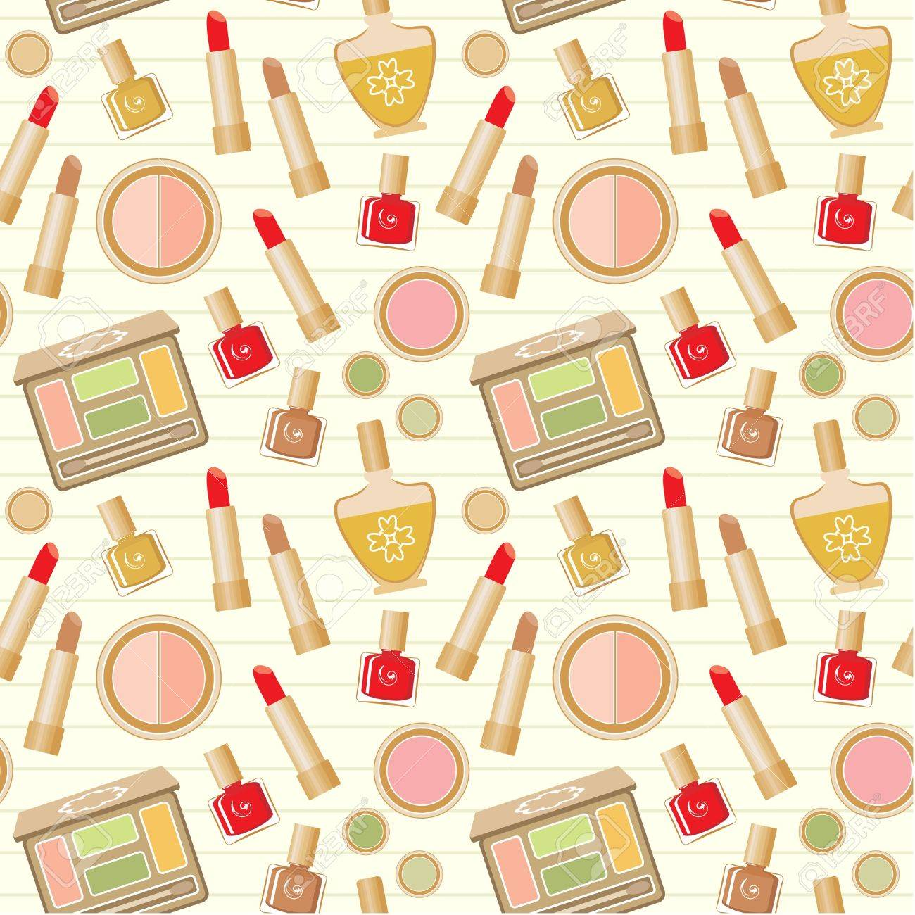 Seamless cosmetics pattern Stock Vector - 15520178