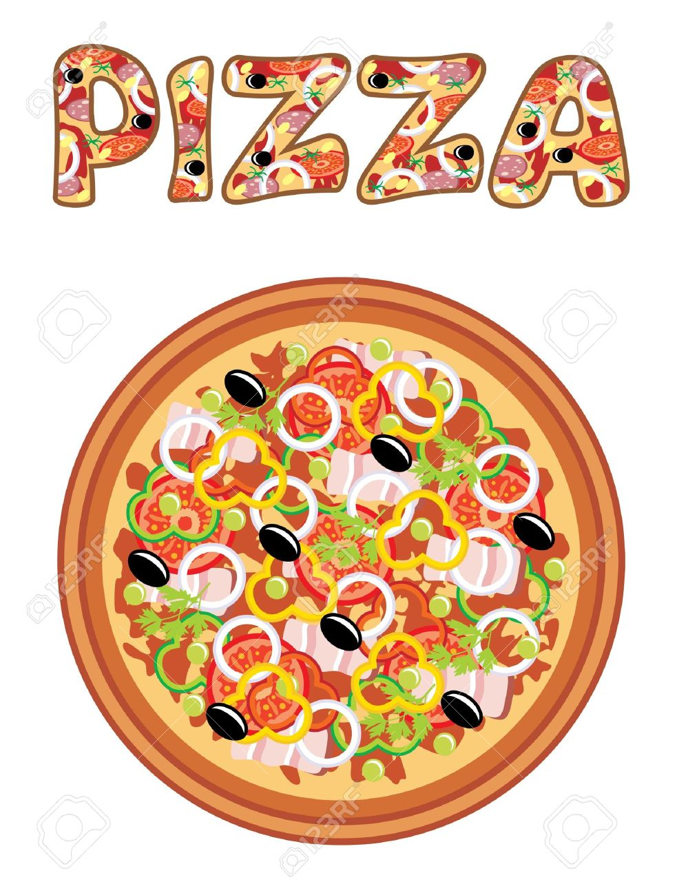 round pizza pizza