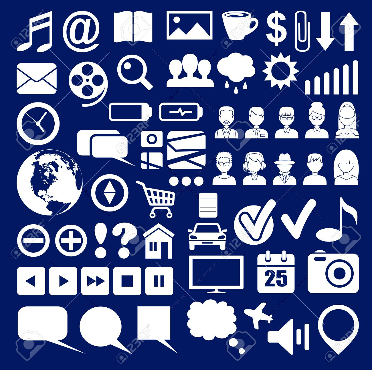 icons of a social networt royalty free cliparts vectors and stock