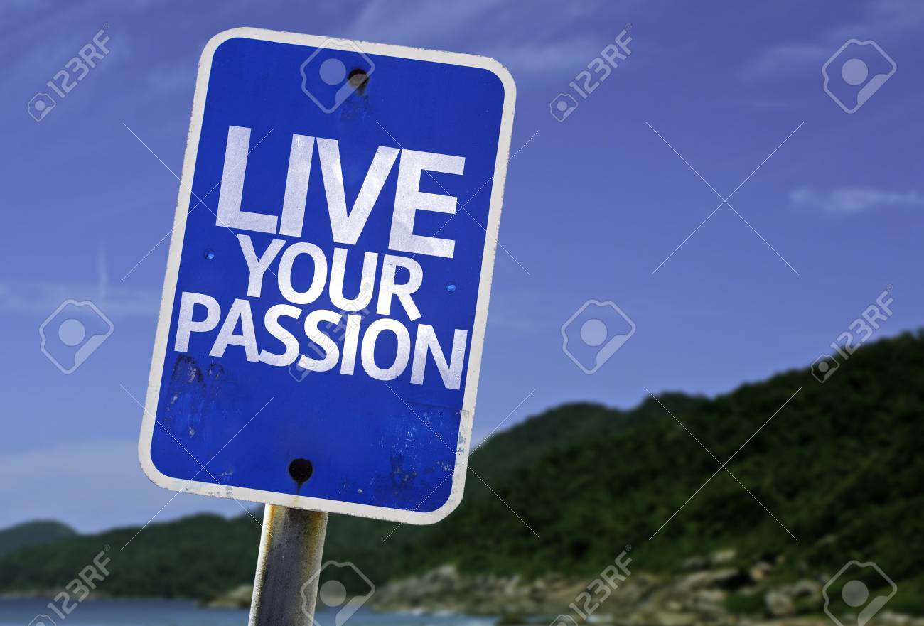 Live your passion sign with beach background Stock Photo - 61705595