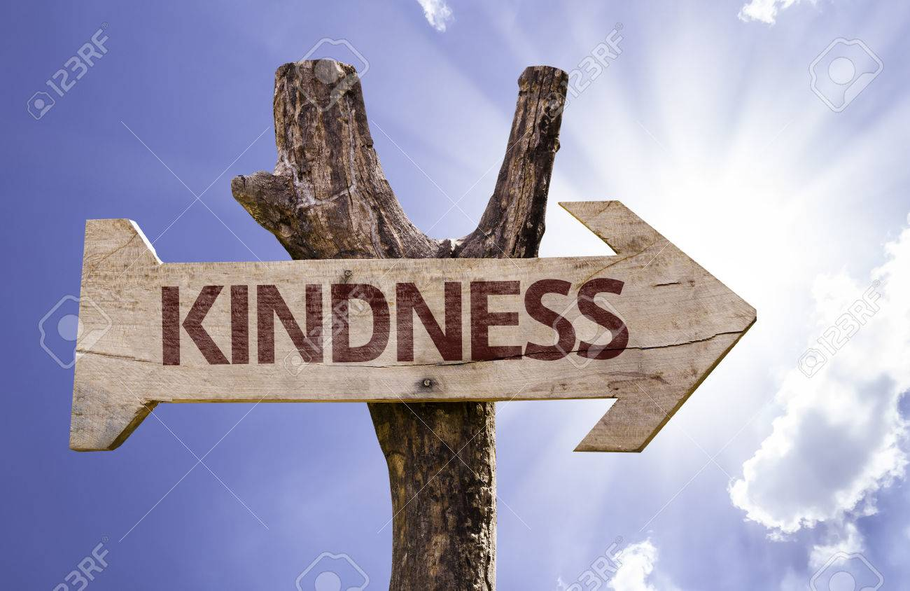 Kindness sign with arrow on sunny background - 61944380