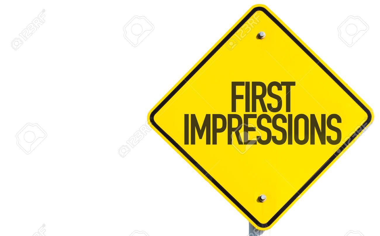 5a2b7a8eef0 Les Premières Impressions Signe Sur Fond Blanc Banque D Images Et ...