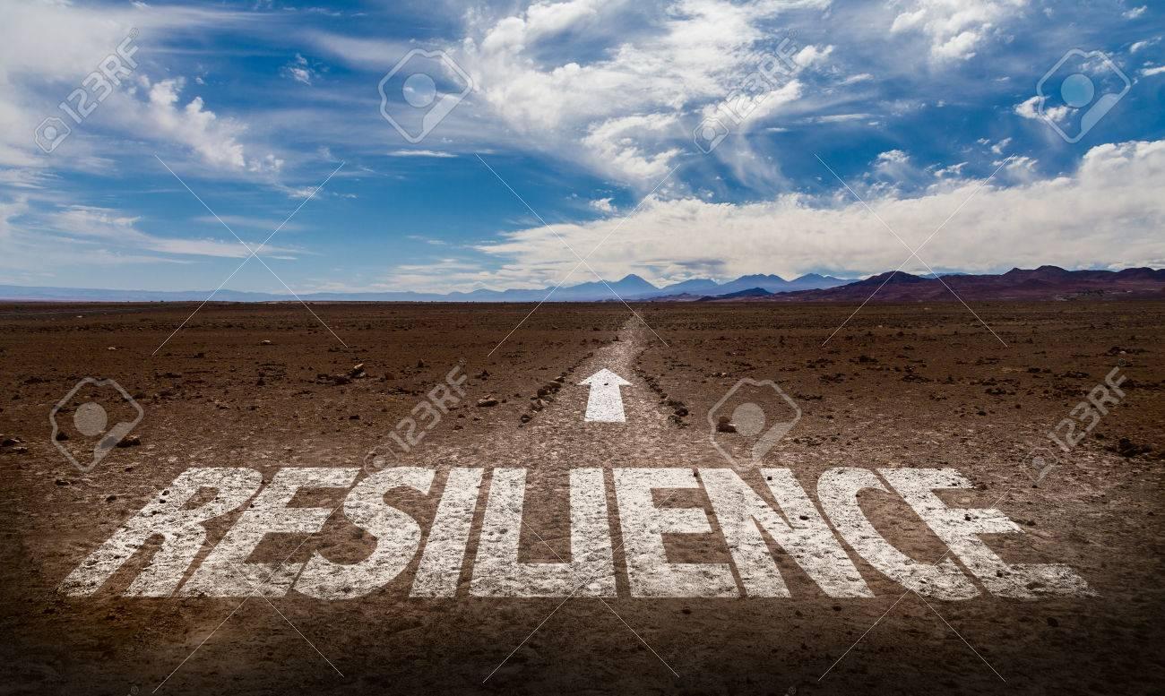 Resilience written on desert background - 65024717