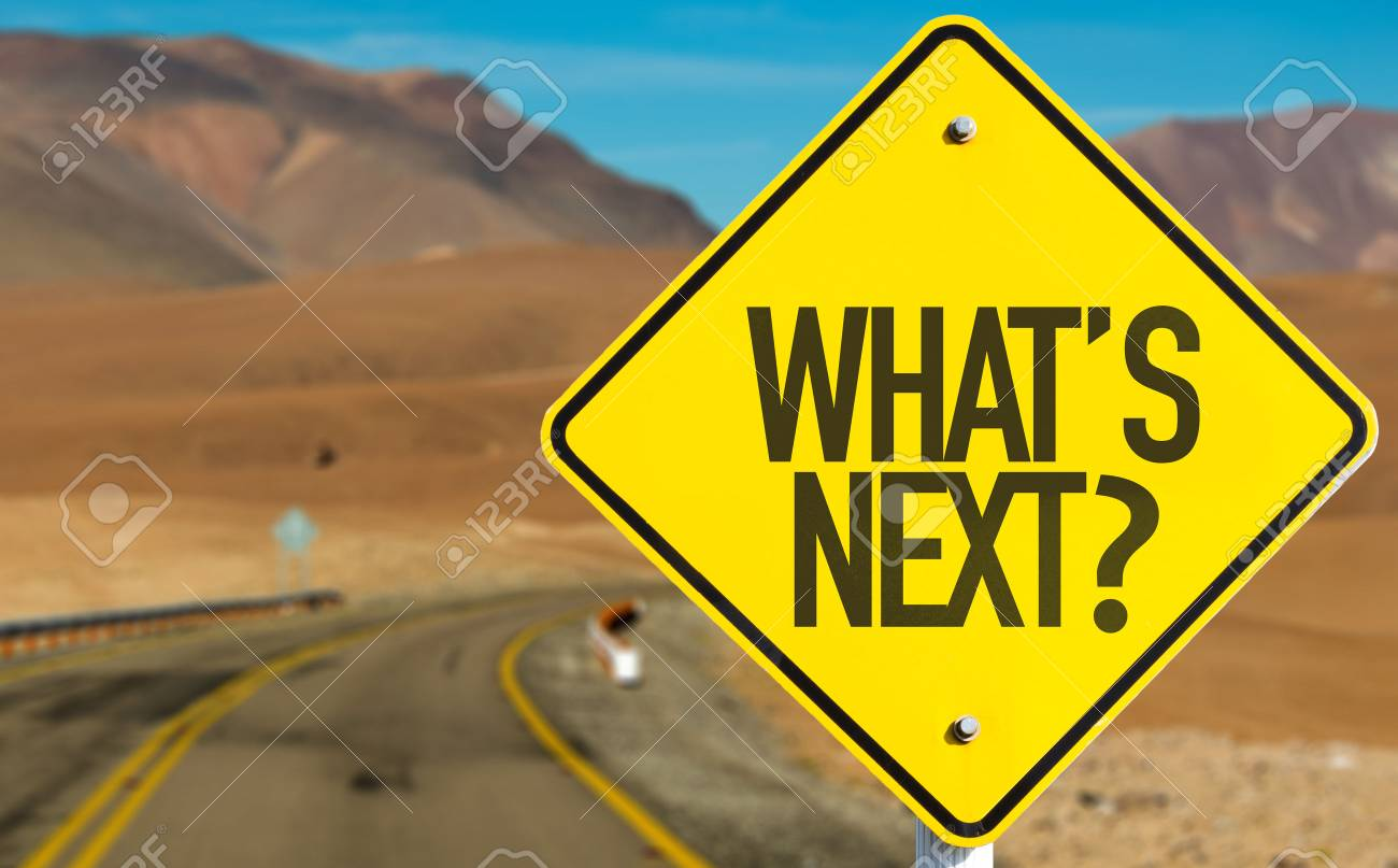 What's next? sign with desert background - 64443488