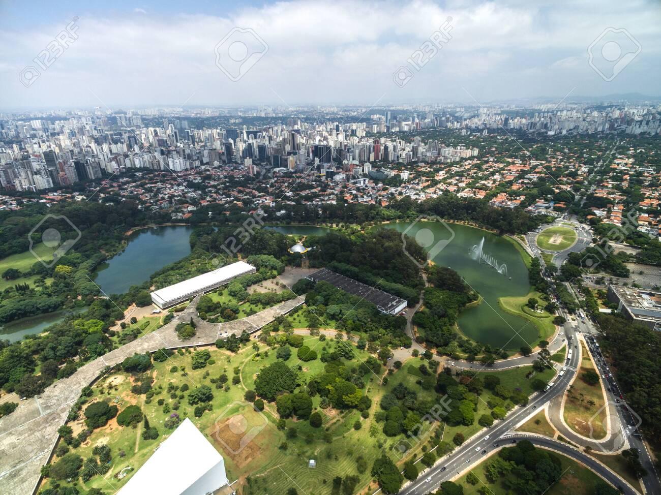 Aerial view of Ibirapuera in Sao Paulo, Brazil - 129562939