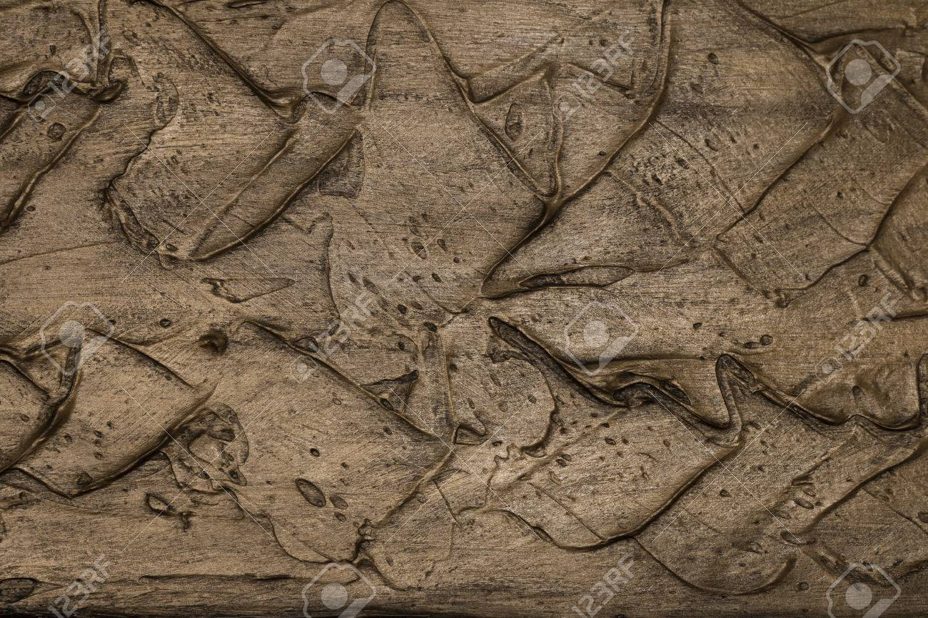 Texture Embossed With Metallic Paint In The Color Copper Stock Photo