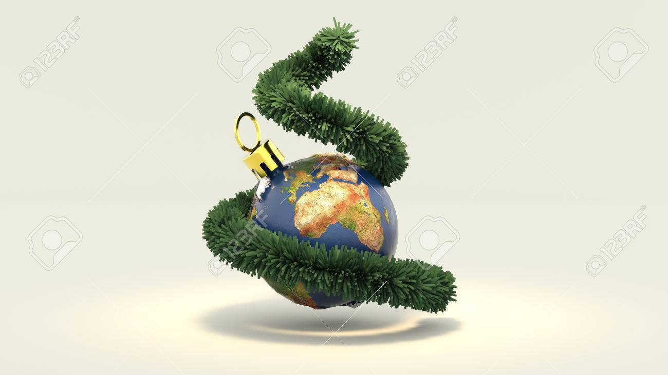 3d illustration merry christmas all over the world stock illustration 81050778 - Christmas All Over The World