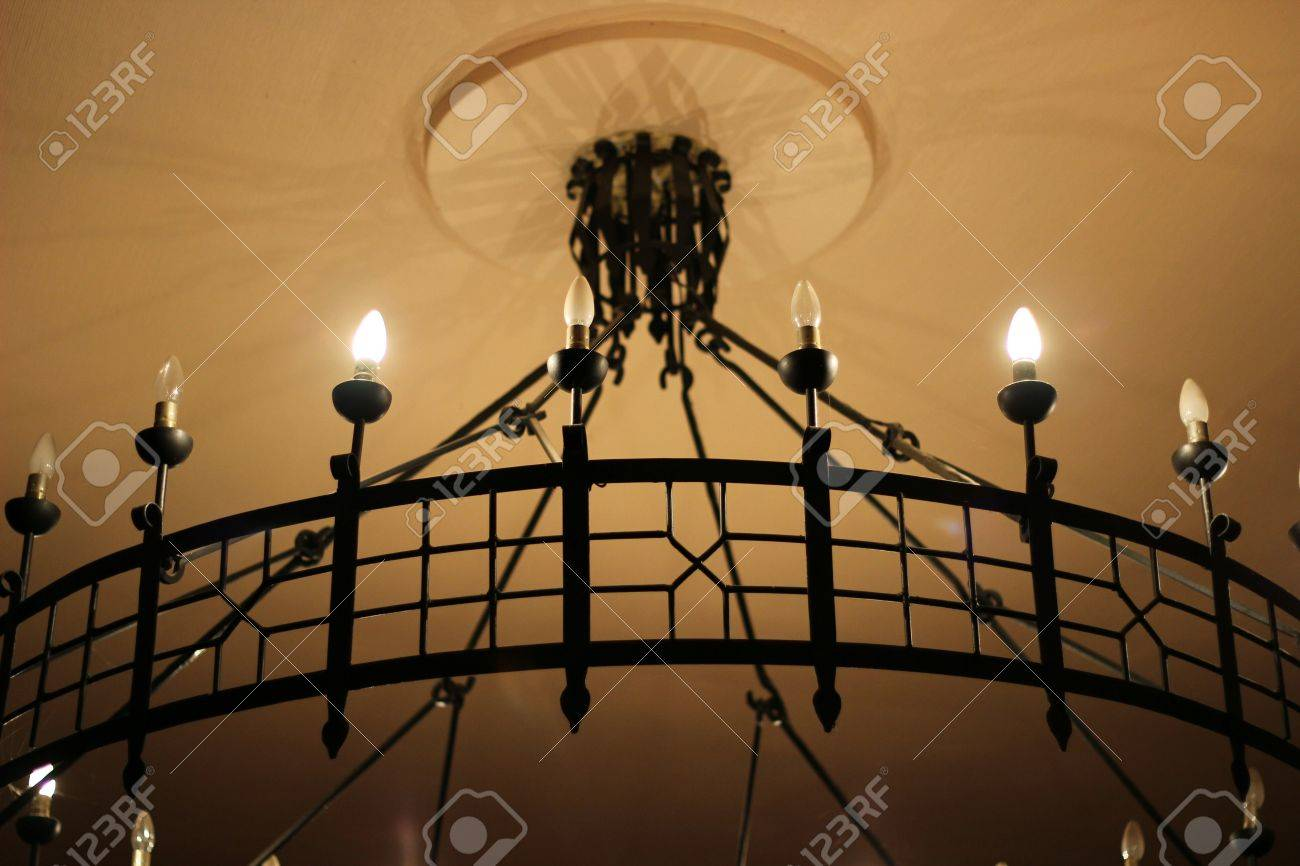 Forged chandeliers stock photo picture and royalty free image forged chandeliers stock photo 24220634 aloadofball Images