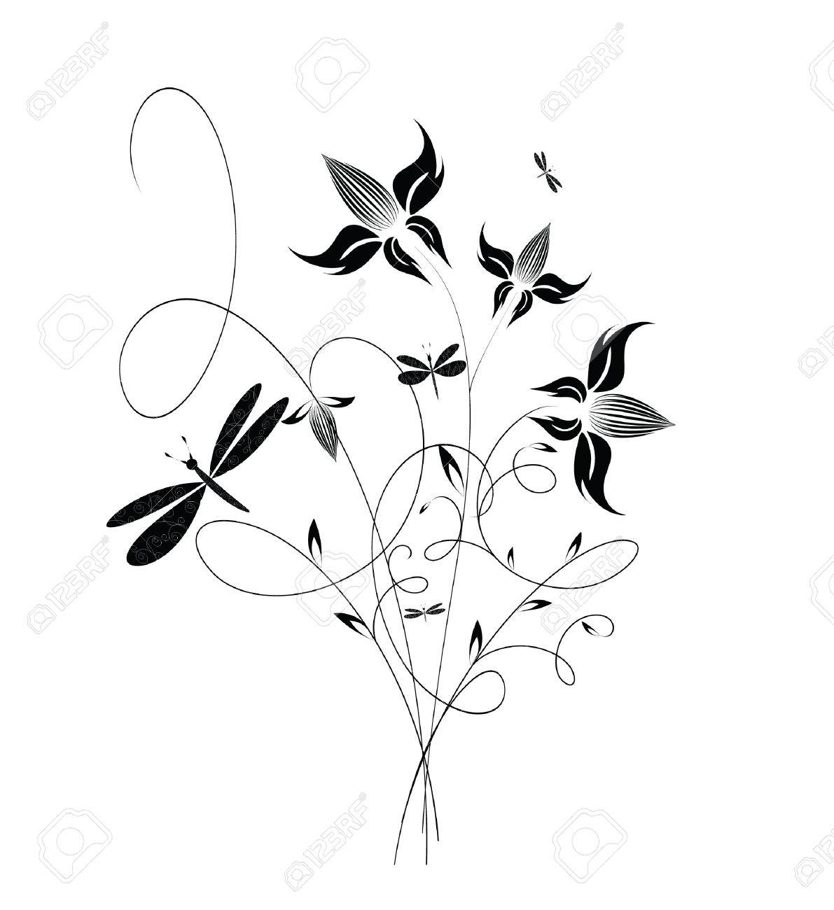 decorative flowers isolated on white background vector illustration please see some similar pictures - Decorative Flowers