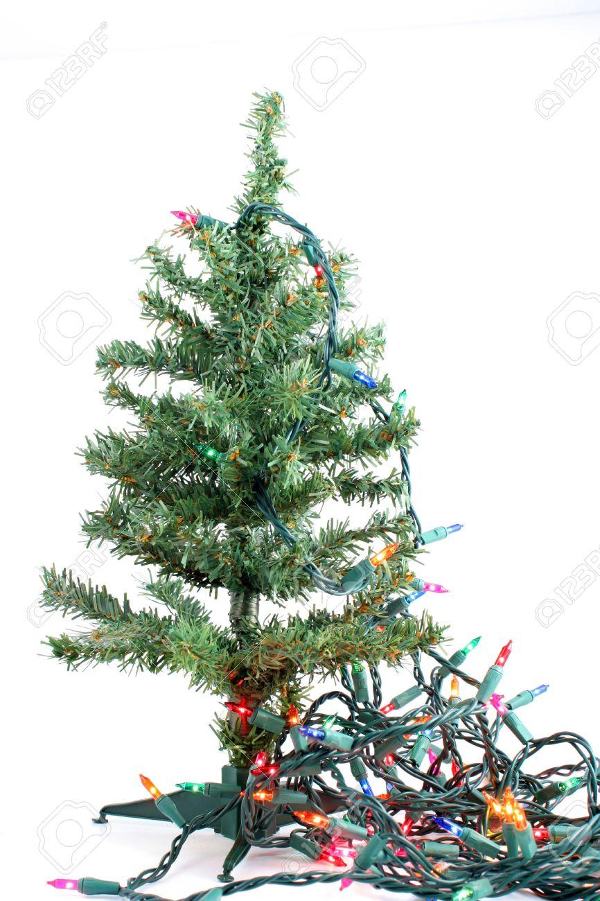 Image Of Christmas Tree Fake With Lights Gki Bethlehem Artificial ...